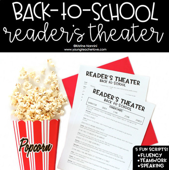 Back to School Activities First Day of School Reader's Theater Plays Scripts