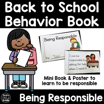 Back to School Behavior Book -Being Responsible