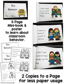 Back to School Behavior Book -Bus Behavior