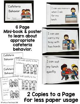 Back to School Behavior Book -Cafeteria Behavior
