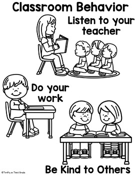 Back to School Behavior Book -Classroom Behavior