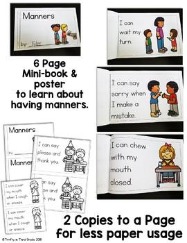 Back to School Behavior Book -Having Manners