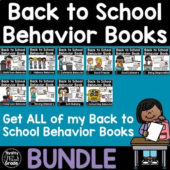 Back to School Behavior Books BUNDLE