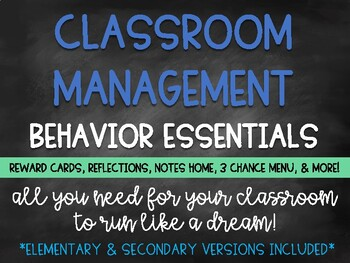 Classroom Management & Behavior Basics: Behavior Essentials **UPDATED!**