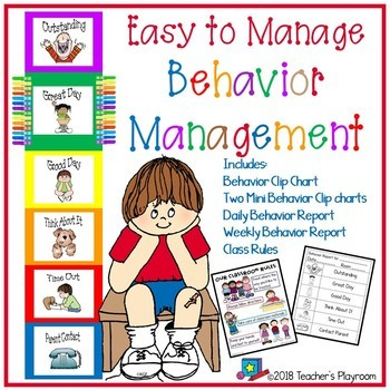 Behavior Clip Chart with Class Rules and Behavior Notes