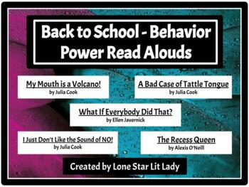 Back to School Behavior Power Read-Alouds