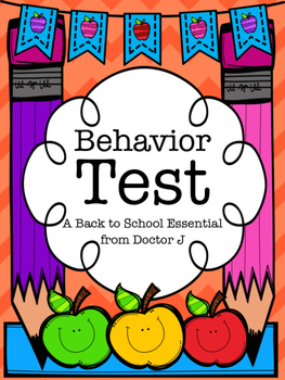 """Back-to-School """"Behavior Test"""" for Classroom Management / Character Education"""
