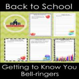 Back to School Bellringers