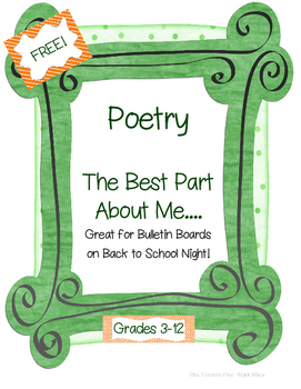 "Back to School ""Best Part About Me"" Poem"