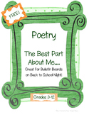 """Back to School """"Best Part About Me"""" Poem"""