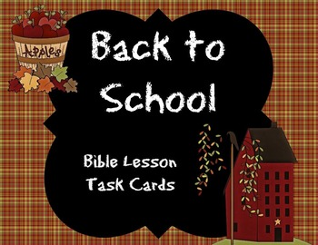 Back to School Bible Task Cards