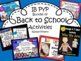 Back to School Collection of IB PYP Activities