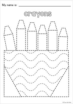 Back to School Big Shape Tracing Pages