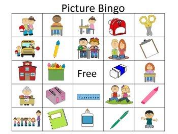 Back to School Bingo: