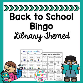 Back to School Bingo- Reading/ Library Themed