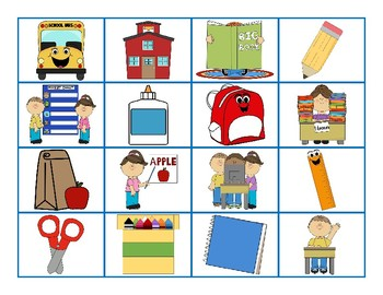 Back to School Bingo (26 Cards)