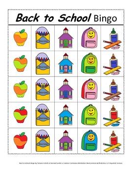Back to School Bingo! A Speech and Language Re-enforcement Activity