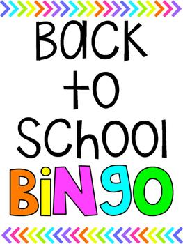 Back to School Bingo - Bright Version!