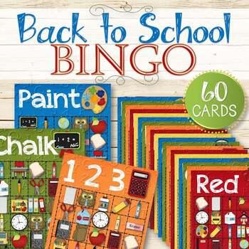 Back to School Bingo Cards