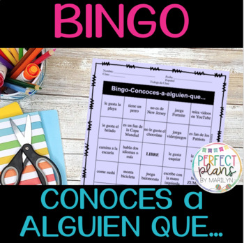 Back-to-School Bingo Conoces a alguien que...