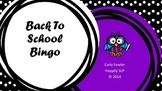 Back to School Bingo (Freebie)