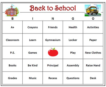 photograph relating to Back to School Bingo Printable identified as Again towards Higher education Bingo Sport- 60 Bingo Playing cards Printable!