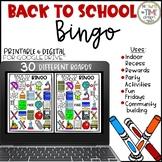 Back to School Bingo   Game   Distance Learning   Digital