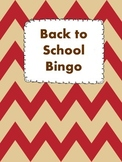 Back to School Bingo Game Worksheet
