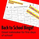 Back to School Bingo Icebreaker / Warm Up