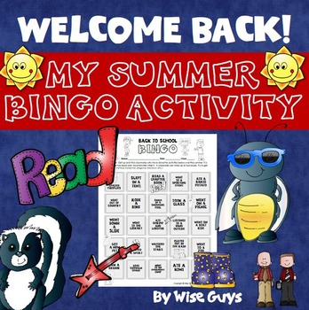 Back to School Bingo Activity