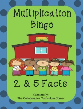 Back to School Bingo - Multiplication 2's and 5's Facts