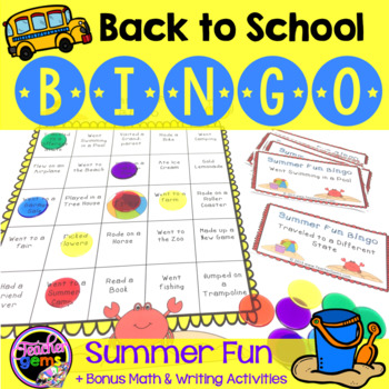 Back to School Bingo Game - Summer Fun