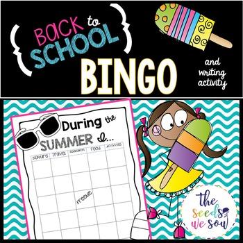 Back to School: Bingo and Writing Activity