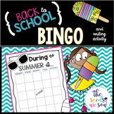 Back to School: Bingo and Writing Activity