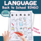 Back to School Bingo for Speech Therapy Moderate Severe Special Education