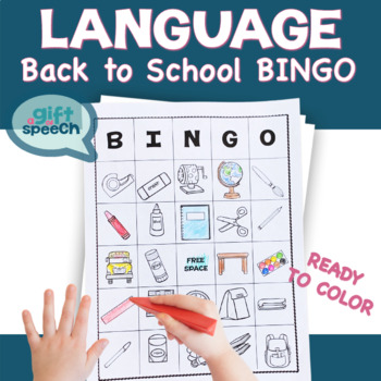 All About School Bingo for Speech Therapy Moderate Severe Life Skills