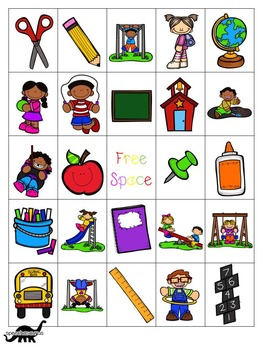 Back to School Bingo for Speech and Language Therapy