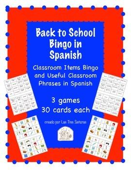 Back to School Bingo in Spanish