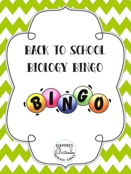 Back to School: Biology Bingo