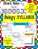 Back to School Biology Syllabus Sketch Notes ! Includes Ed