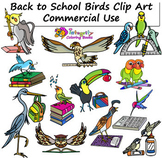 Back to School Birds Clip Art - Commercial Use