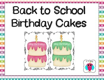 Back to School Birthday Cakes (Monday Madness)