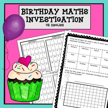 Birthday Maths Investigation No Prep AUS UK