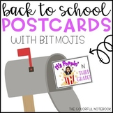 Back to School Bitmoji Postcards
