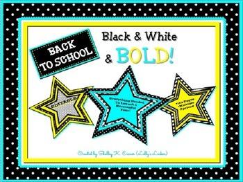 Back to School Black & White & Bold MEGA Pack