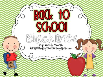 Back to School Blacklines