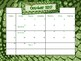 Back to School Blank {Animal Print} Planning Calendar - No Prep