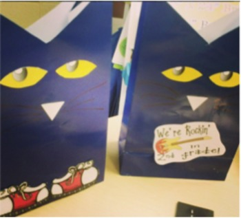 Blue Cat Back to School Treat Bags