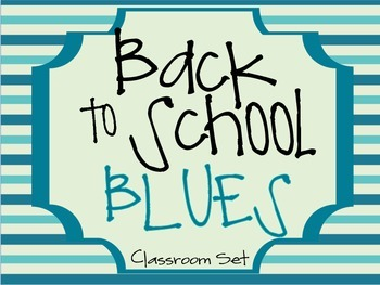 Back to School Blues {Classroom Decor}