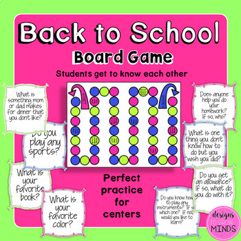Back to School- Board Game